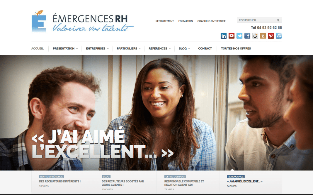 Emergence RH site internet